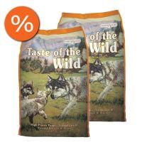 Pachet economic: Taste of the Wild High Prairie Puppy Formula, 2 x 12.2 Kg