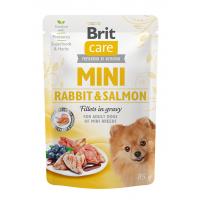 Brit Care Dog Mini Rabbit & Salmon Fillets in Gravy, 85 g