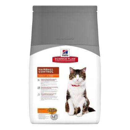 Hrana uscata pentru pisici Hill's SP Feline Adult Hairball cu Pui, 300g