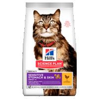 Hrana uscata pentru pisici Hill`s SP Feline Adult Skin and Stomach cu Pui, 1.5 kg