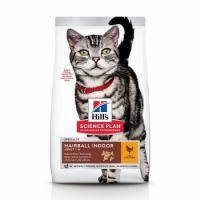 Hrana uscata pentru pisici, Hills SP Feline Adult Hairball and Indoor cu Pui, 300 g