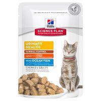 Hrana umeda pentru pisici Hill's SP Feline Adult Urinary and Hairball cu Peste Oceanic, 85g
