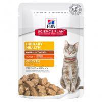 Hrana umeda pentru pisici Hill's SP Feline Adult Urinary and Hairball cu Pui, 85g