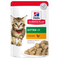 Hrana umeda pentru pisici Hill's SP Feline Kitten cu Pui, 85g