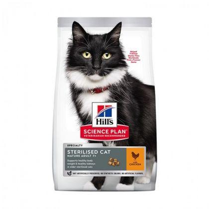 Hrana uscata pentru pisici Hill`s SP Feline Mature Sterilised cu Pui, 3 kg
