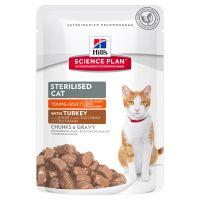 Hrana umeda pentru pisici Hill's SP Feline Young Adult Sterilised Cat cu Curcan, 85g