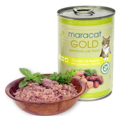 Hrana umeda pentru pisici Maracat Gold cu Pui si Inimi, 400g