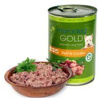 Hrana umeda pentru caini Maradog Gold cu Vita si Pui, 400g