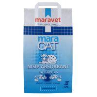 Nisip litiera pisici Maracat cu Lavanda, 5 Kg