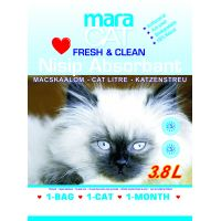 Nisip litiera pisici Maracat Fresh Silicat, 3.8 L
