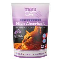 Nisip litiera pisici Maracat Silicat cu Lavanda, 3.8 L