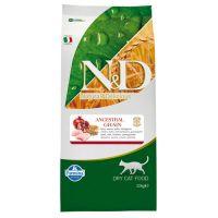 Hrana uscata pentru pisici N&D Low Grain Adult Cat Pui si Rodie, 10 Kg