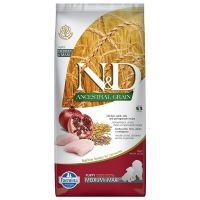 N&D Low Grain Puppy Medium and Maxi Breed, Pui si Rodie, 12 kg