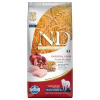 Hrana uscata pentru caini N&D Low Grain Adult Maxi, Pui si Rodie, 12 kg