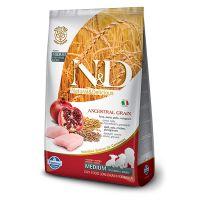 Hrana uscata pentru caini N&D Low Grain Puppy Medium, Pui si Rodie, 12 kg