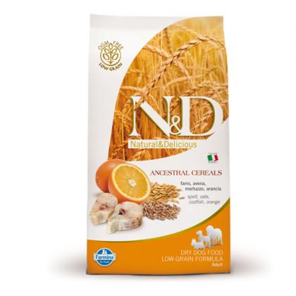 Hrana uscata pentru caini N&D Low Grain Adult Peste si Portocale, 12 Kg