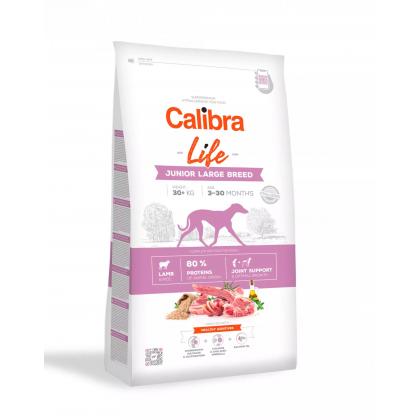 Calibra Dog Life Junior Large Breed cu Miel, 12 kg