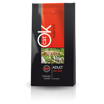Hrana uscata pentru pisici OK Cat Passion Adult cu Vita, 12.5 Kg