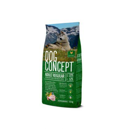 Hrana uscata pentru caini Dog Concept Adult Regular, 15 Kg