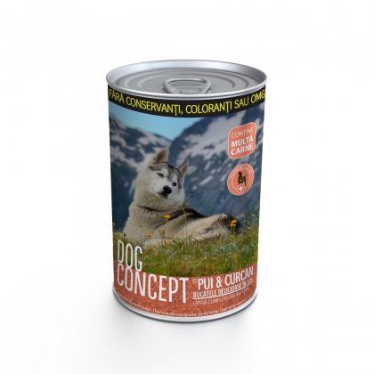 Conserva pentru caini Dog Concept cu Curcan si Pui, 415 g