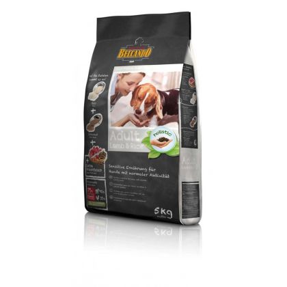 Hrana uscata pentru caini Belcando Adult cu Miel si Orez, 5 Kg