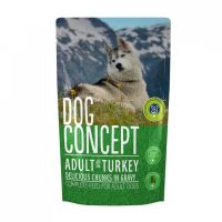Hrana umeda pentru caini Dog Concept Plic Curcan, 100 g