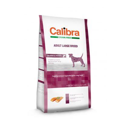Hrana uscata pentru caini Calibra Dog Grain Free Adult Large Breed Somon, 12 kg