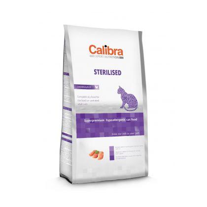 Hrana uscata pentru pisici Calibra Cat Expert Nutrition Sterilised cu Pui, 7 Kg