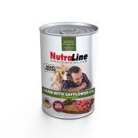 Conserva pentru caini Nutraline Dog Adult cu Miel si Ulei de Sofranel, 800 g