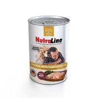 Conserva pentru caini Nutraline Dog Adult cu Pui si Ulei de Floarea Soarelui, 400 g