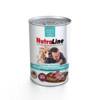Conserva pentru caini Nutraline Dog Junior cu Vita, Curcan si Ulei de in, 800 g