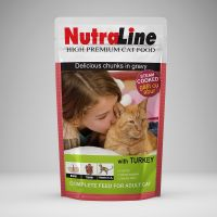 Hrana pisici Plic Nutraline Classic Curcan, 100 g