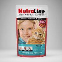 Hrana pisici Plic Nutraline Classic Kitten, 100 g