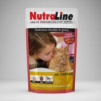 Hrana pisici Plic Nutraline Classic Pui, 100 g