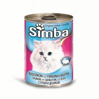 Hrana umeda pentru pisici Simba Cat Conserva Rata, 415 g