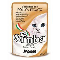 Hrana umeda pentru pisici Simba Cat Plic Pui/Ficat, 100 g