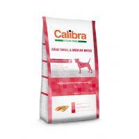 Hrana uscata pentru caini Calibra Dog Grain Free Adult Small Medium Breed cu Somon, 12 Kg