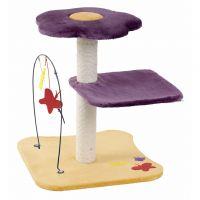 Ansamblu de joaca pentru pisici, Belle Fleur Violet/Galben, 72 CM